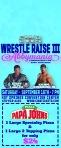 CWA Wrestle Raise III - Door Hanger