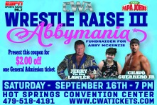 CWA Wrestle Raise III - Post Card
