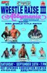 CWA Wrestle Raise III - Poster