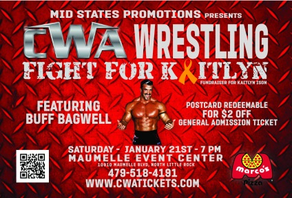 CWA Wrestle Raise I Postcard