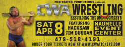 CWA Wrestle Raise II - Postcard
