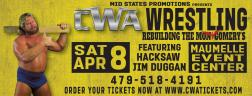 CWA Wrestle Raise II - Postcard