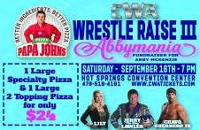 CWA Wrestle Raise III - Pizza Box Topper