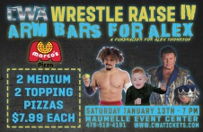 CWA Wrestle Raise IV - Pizza Box Topper